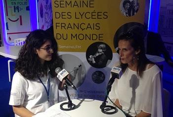 Interview de Vinciane Moeschler par une élève au Salon du livre francophone de Beyrouth