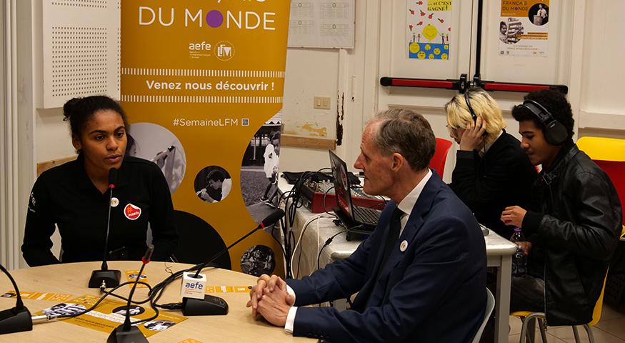 L'ambassadeur de France en Italie au micro des JRI du lycée Chateaubriand