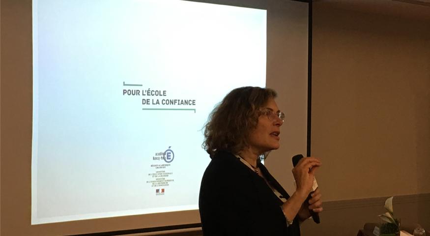 Intervention de Florence Robine sur l'évaluation au séminaire de l'AEFE à l'attention des nouveaux personnels d'encadrement 20 mai 2019)