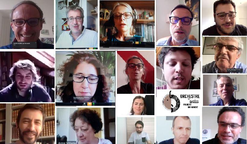 Visuel : mosaïque des visages des mentors de l'OLFM participant au tchat