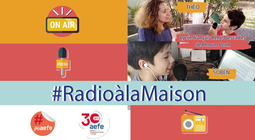 """Visuel pour la série radiophonique """"C'est du fait maison' sur aefe.fr"""