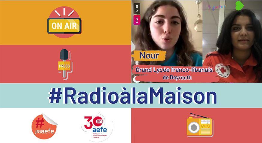 """Visuel de la série radiophonique """"C'est du fait maison"""", avec une vignette de la présentatrice"""