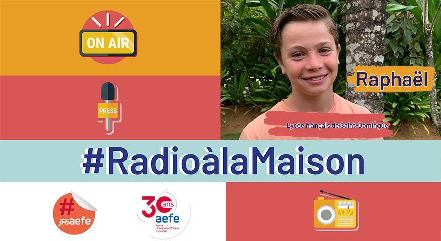 """Visuel de la série radiophonique """"C'est du fait maison"""", avec une photo du jeune reporter Raphaël en vignette"""
