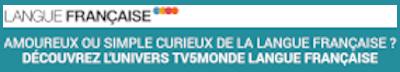 """Bandeau """"Découvrez l'univers TV5Monde Langue Française"""""""