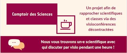Infographie de présentation du Comptoir des Sciences