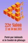 Visuel  pour le 22e Salon du CIJM, manifestation pendant laquelle se déroule la Coupe Euromath