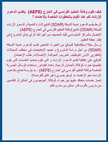 L'action du SADR en arabe