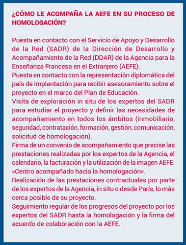 L'action du SADR en espagnol