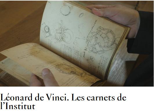 Visuel pour les dossiers pédagogique de l'Institut de France sur Léonard de Vinci