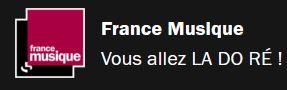 """Logo France Musique  & slogan """"Vous allez LA DO RÉ"""""""