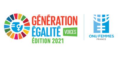 Logo Génération Égalité Voices édition 2021 / ONU Femmes France