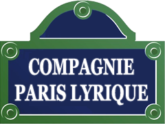 Logo du site de la Compagnie Parie lyrique (comme une plaque de rue parisienne)
