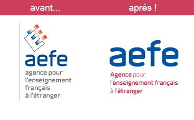 logos AEFE avant apres