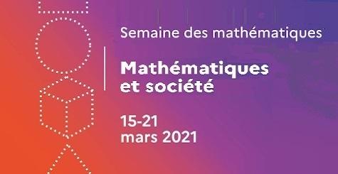 Visuel pour la 10e édition de la Semaine des mathématiques en 2021