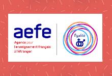Visuel avec le logo AEFE/ Égalité femmes-hommes