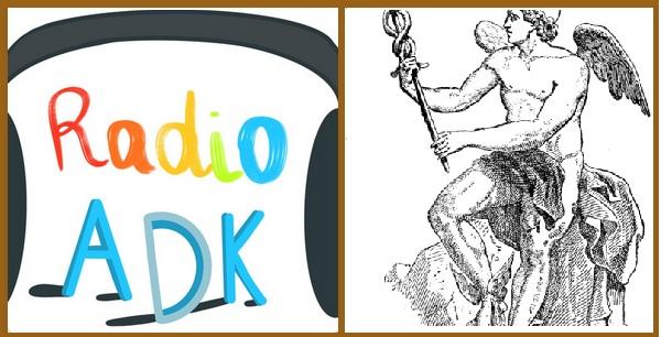Logos de Radio ADK et de la chronique d'Hermès