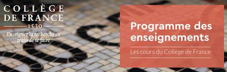 Visuel poiur illustrer le Collège de France et ses enseignements