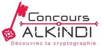 """Logo du concours Alkindi, avec une clé et les texte """"Découvrez la cryptographie"""""""