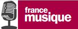 Logo France Musique et dessin de micro stylisé