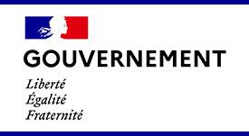 """Visuel """"gouvenrement"""" avec la """"Marianne"""" et la devise républicaine """"Liberté, Égalité, Fraternité"""""""