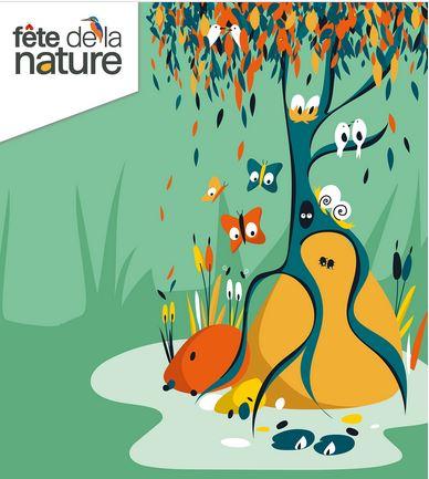 Dessin illustrant le site de la Fête de la nature