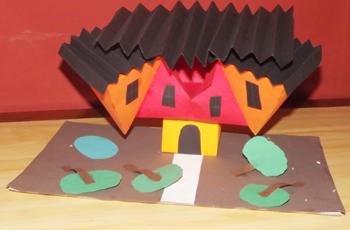 Maquette du projet de musée créée par les élèves de Libreville
