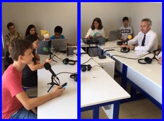 """Jean-Paul Négrel, invité de la Web radio scolaire """"Les Échos de l'olivier"""""""