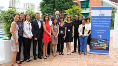 Les participants du 1er séminaire des chargés de communication de la zone Asie. © AEFE