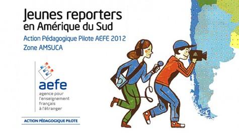 """Détail de la jaquette du DVD sur l'APP """"Jeunes reporters en Amérique du Sud"""" © AEFE"""