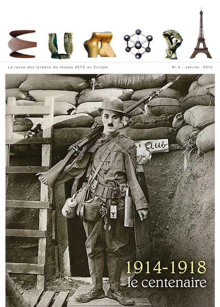 La Une du cinquième numéro de la revue Europa consacrée au centenaire de la Première Guerre mondiale © Revue Europa