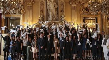 La promotion 2013-2018 des boursiers Excellence-Major mise à l'honneur au Quai d'Orsay
