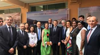 Visite sportive du président de la République au lycée Louis-Pasteur de Lagos