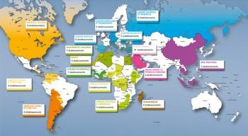 Ambassadeurs en herbe 2016-2017: 99 établissements participants, dans 84 villes et 59 pays