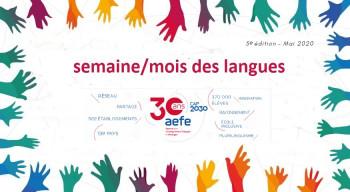 Un mai des langues en réseau célébrant les 30 ans de l'AEFE et le plurilinguisme