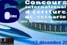 Affiche de la 6e édition du concours international d'écriture de scénario