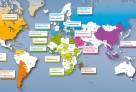 Carte des établissements participants par zone