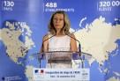 Discours d'Hélène Conway-Mouret lors de l'inauguration des nouveaux locaux du siège parisien de l'AEFE le 4 septembre 2013. © MAE / Frédéric de la Mûre