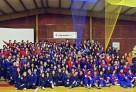 Les délégations des cinq lycées français du Chili présentes aux 39e Jeux inter-alliances