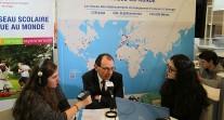 Une Web radio et ses reporters sur le stand de l'AEFE au Salon européen de l'éducation : création, formation, diffusion