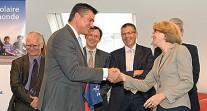 Les services nantais de l'AEFE reçoivent la visite du secrétaire d'État David Douillet