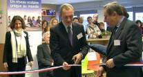 Inauguration de la nouvelle médiathèque du lycée français à La Haye (Pays-Bas)