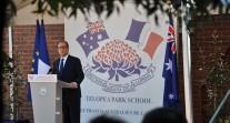 Visite du président de la République au Lycée franco-australien de Canberra