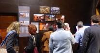 Public devant des panneaux de l'exposition AFEX 2012