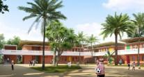 Pose de la première pierre de la nouvelle école française de Lomé