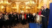 Réception au Quai d'Orsay en l'honneur des anciens élèves du réseau à l'occasion du 25e anniversaire de l'AEFE