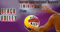 Premier tournoi international scolaire féminin de beach-volley au Maroc : les inscriptions sont ouvertes !