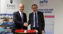 Nouvelle convention de partenariat entre l'AEFE et l'ESSEC, Grande École de management qui ouvre des campus dans différents pays