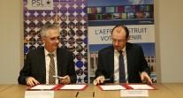 Signature d'un accord de coopération entre l'université Paris Sciences et Lettres et l'AEFE