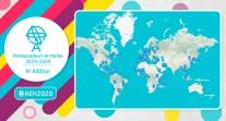 Ambassadeurs en herbe 2019-2020 : 136 établissements participants, dans 111 villes et 69 pays