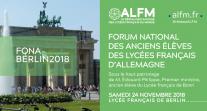 À vos agendas ! Rendez-vous à Berlin le 24 novembre pour le 1er forum national des anciens élèves des lycées français en Allemagne...
